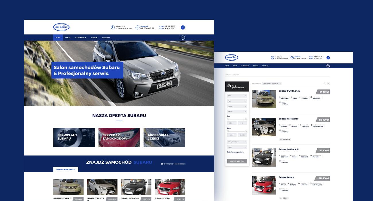 Subaru Point website screenshot